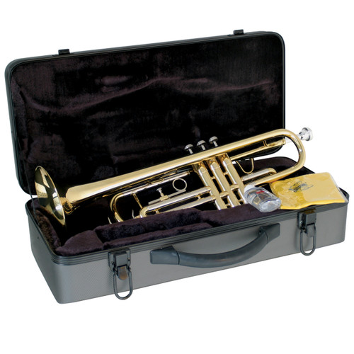 Lauren Student Bb Trumpet Outfit LTR100 B-Flat Trumpet with Case, Brass