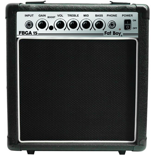 Fat Boy Guitar Amp FBGA15 15 Watt Guitar Amplifier, Black