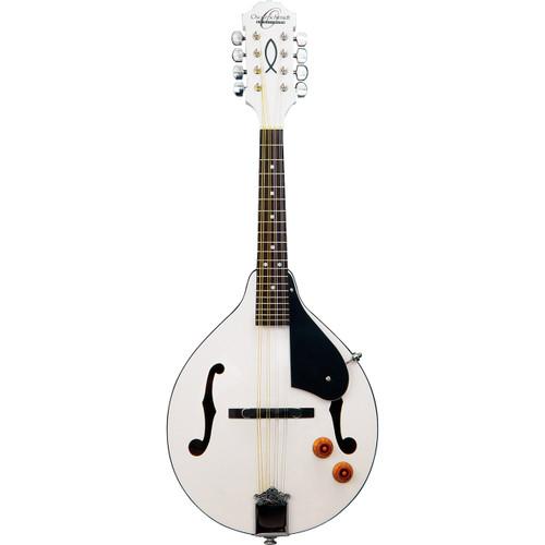 Oscar Schmidt OM10EWH Acoustic Electric A-Style Mandolin, White