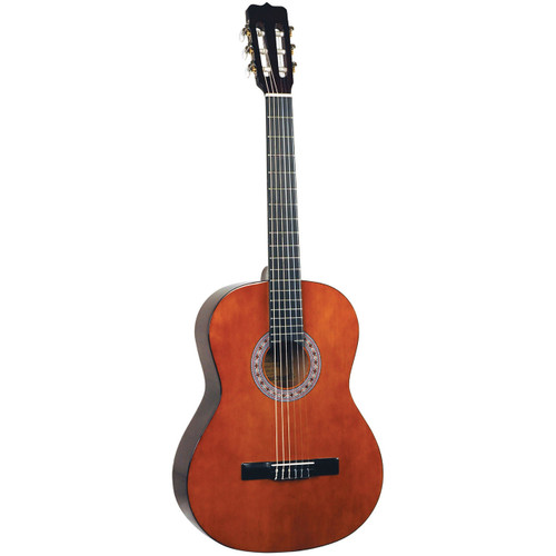 Lucida LG-510-3/4 Student Nylon String 3/4 Size Classical Acoustic Guitar, Natural