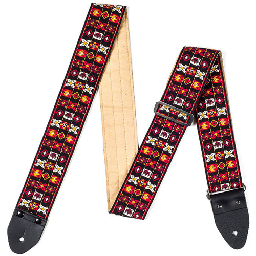 Dunlop JH01 Jimi Hendrix Festival Guitar Strap with Leather Ends