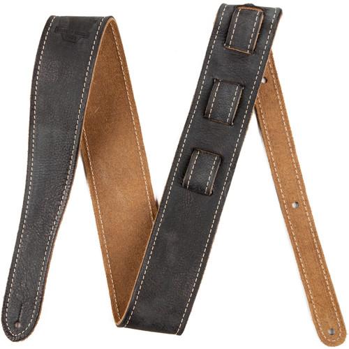 Fender Road Worn Leather Guitar Strap - Black, 099-0660-006