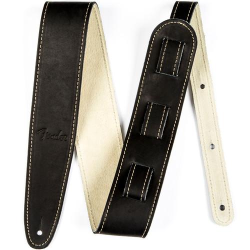 Fender Baseball Glove Leather Guitar Strap, Black (099-0607-006)