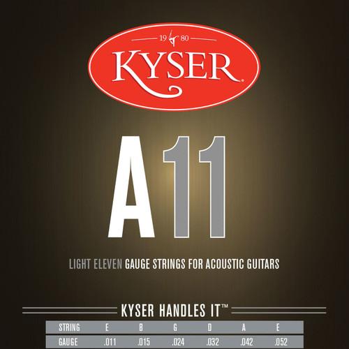 Kyser A11 Phosphor Bronze Acoustic Guitar Strings, Light, KA2