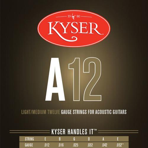 Kyser A12 Phosphor Bronze Acoustic Guitar Strings, Light/Medium, KA3