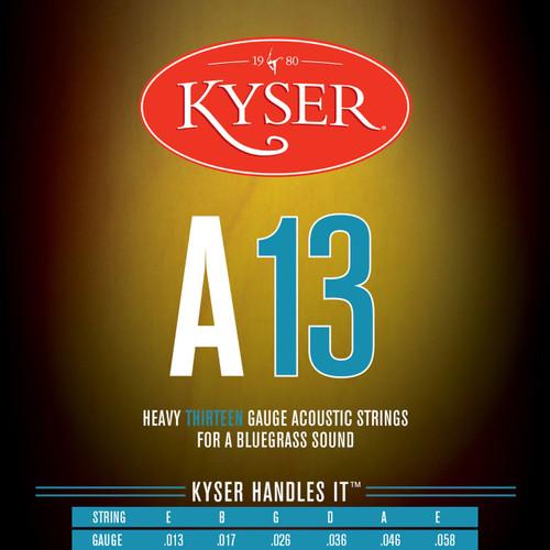 Kyser A13 Phosphor Bronze Bluegrass Acoustic Guitar Strings, Heavy, KA4