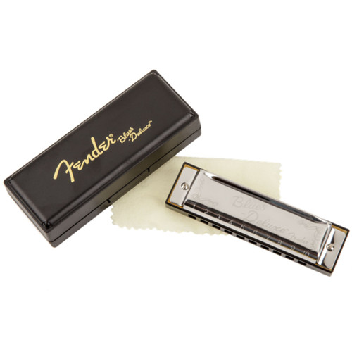 Fender Blues Deluxe 10-Hole Diatonic Harmonica with Case, Key of A (099-0701-003)