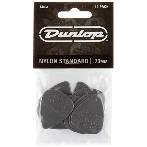 Dunlop 44P.73 Nylon Standard Guitar Picks, .73mm, 12-Pack