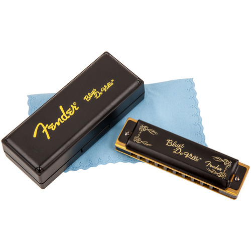 Fender Blues DeVille 10-Hole Diatonic Harmonica with Case, Key of C (099-0702-001)