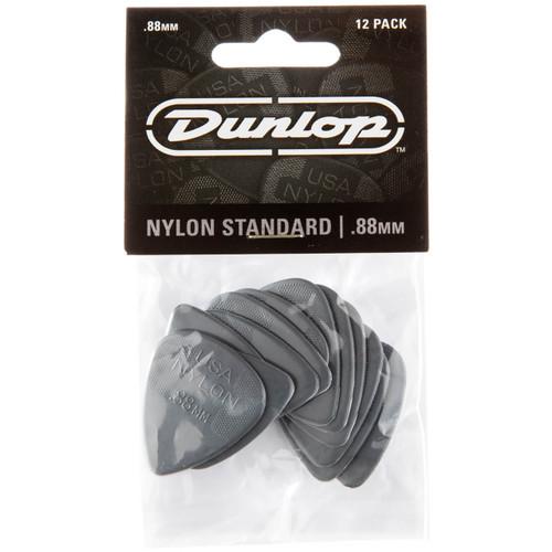 Dunlop 44P.88 Nylon Standard Guitar Picks, .88mm, 12 Pack