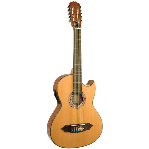 Lucida LG-BQ2-E Acoustic Electric Thin Body Bajo Quinto w/ 4-Band EQ, Natural