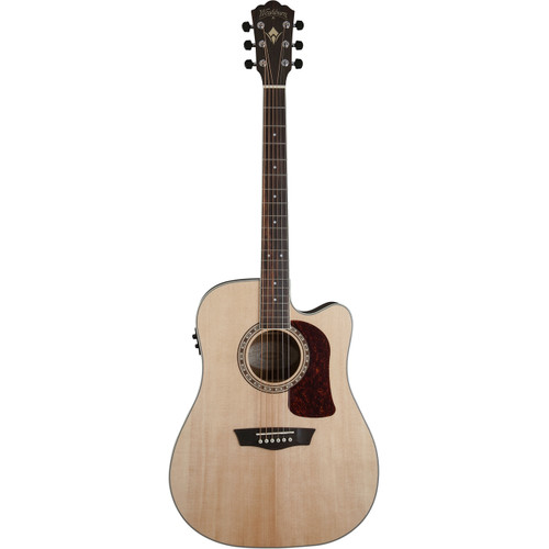Washburn Heritage Series HD20SCE Dreadnought Cutaway Acoustic Electric Guitar, Natural (HD20SCE)