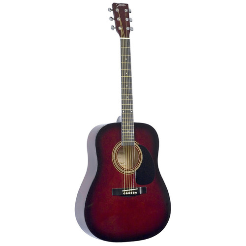 Johnson JG-610-R Player Series Full Size Dreadnought Acoustic Guitar, Red