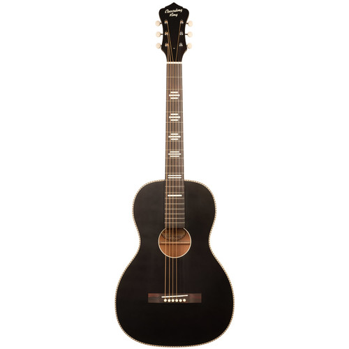 Recording King RPS-7-MBK Dirty 30's Single 0 Acoustic Guitar, Matte Black