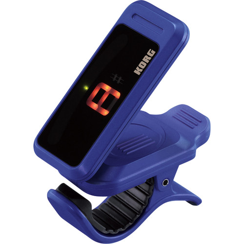 Korg PC1 Pitchclip Chromatic Clip-On Tuner for Guitar and Bass, Indigo (PC1-IN)
