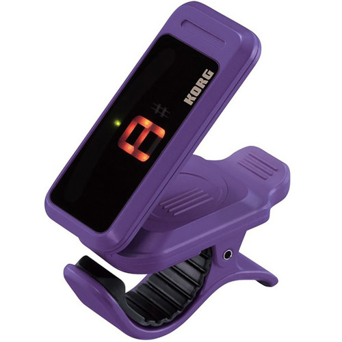 Korg PC1-VI Pitchclip Chromatic Clip-On Tuner for Guitar and Bass, Violet