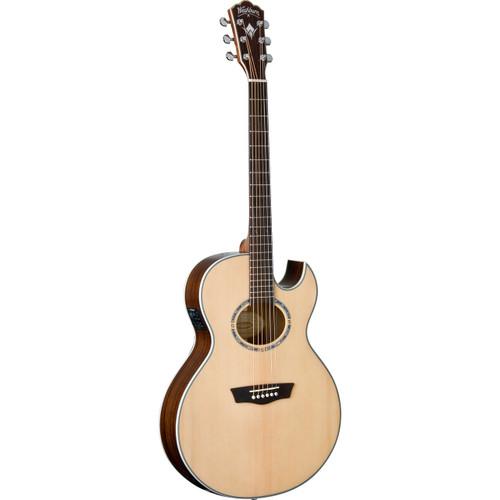 Washburn EA20SNB Nuno Bettencourt Festival Series Thin Body Jumbo Acoustic Electric Guitar (EA20SNB)