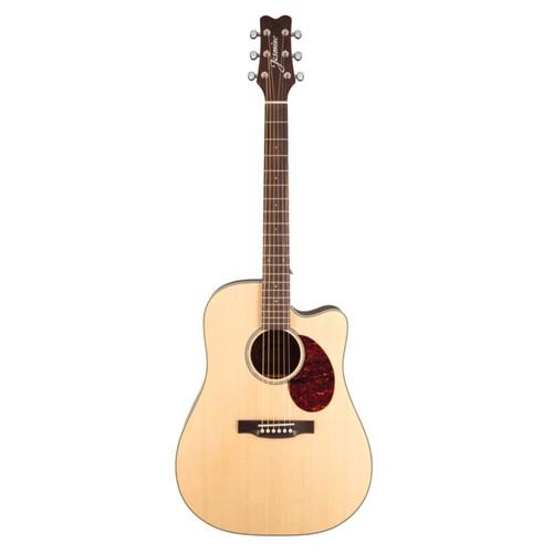 Jasmine JD37CE J-Series Dreadnought Cutaway Acoustic Electric Guitar, Natural (JD37CE-NAT)