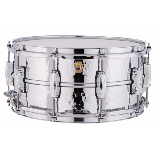 """Ludwig LM402K Supraphonic 6.5""""x14"""" Hammered Aluminum Shell Snare Drum w/ Imperial Lugs"""
