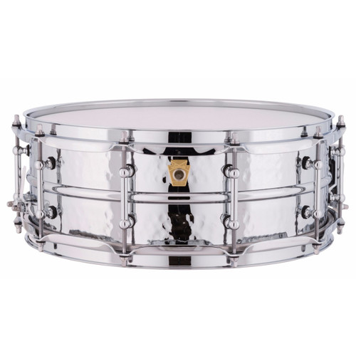 """Ludwig LM400KT Supraphonic 5""""x14"""" Hammered Aluminum Shell Snare Drum w/ Tube Lugs"""