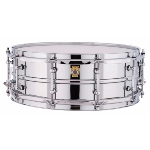"""Ludwig LM400T Supraphonic 5""""x14"""" Smooth Aluminum Shell Snare Drum w/ Tube Lugs"""