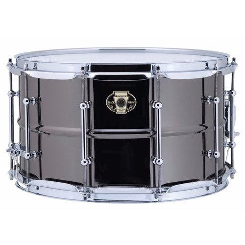 """Ludwig LW0814C Black Magic 8""""x 14"""" Brass Snare Drum, Chrome Hoops and Tube Lugs (LW0814C)"""