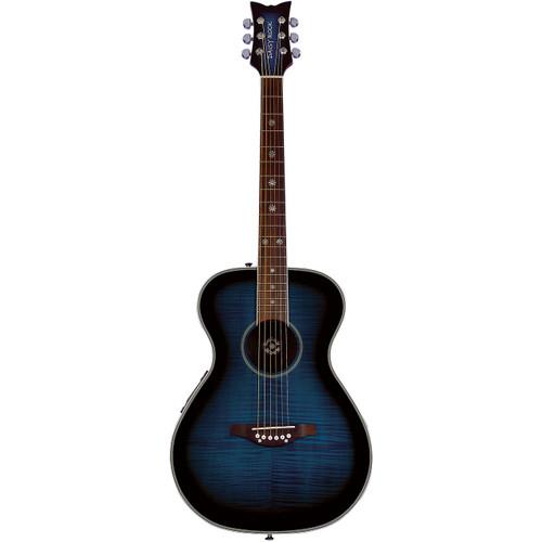 Daisy Rock DR6221 Pixie Acoustic Electric Guitar, Blueberry Burst
