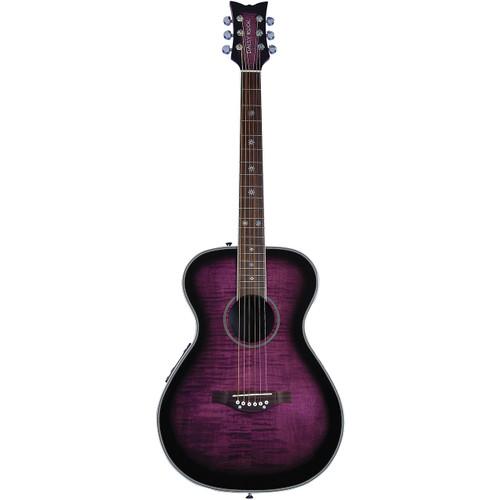 Daisy Rock DR6222 Pixie Acoustic Electric Guitar, Plum Purple Burst