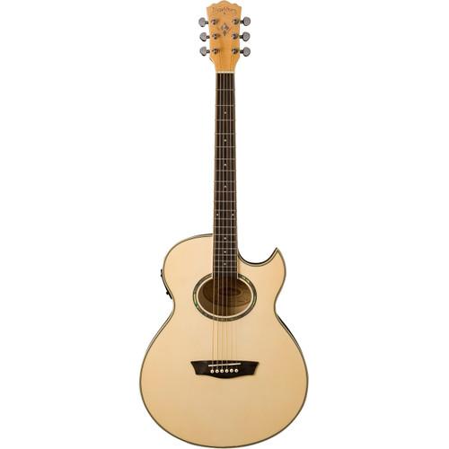 Washburn Festival Series EA20 Mini Jumbo Acoustic Electric Guitar, Natural (EA20)