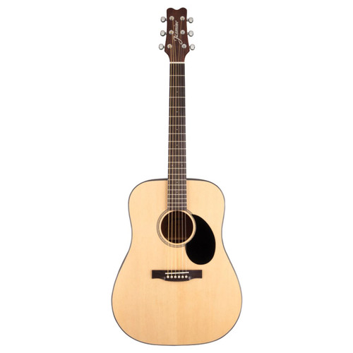 Jasmine JD39-NAT Dreadnought Acoustic Guitar with Deluxe Hardshell Case, Natural