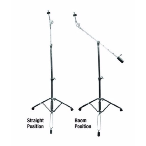 GP Percussion CBS1018 Professional Series Boom Arm Combo Cymbal Stand, Chrome