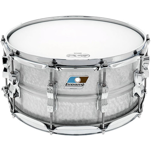 """Ludwig LM405K Acrolite Hammered Aluminum Snare Drum w/ Twin Lugs, 6.5"""" x 14"""""""