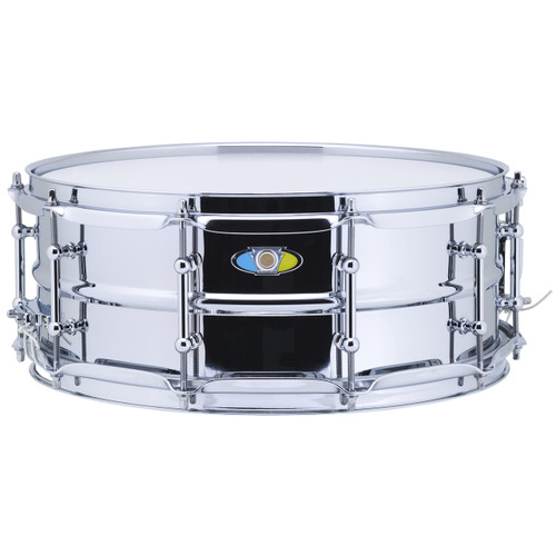 "Ludwig LW5514SL Supralite Steel Snare Drum, 5.5""x 14"""