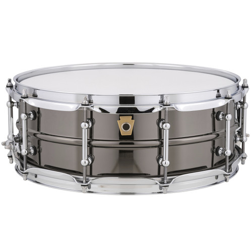 Ludwig USA LB416T Black Beauty 5x14 Snare Drum with Tube Lugs, Black Nickel