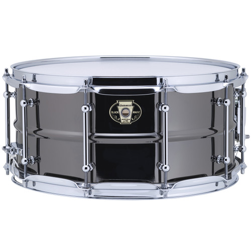 """Ludwig LW6514C Black Magic 6.5""""x 14"""" Brass Snare Drum, Chrome Hoops and Tube Lugs (LW6514C)"""
