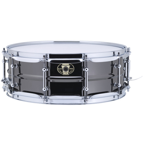 """Ludwig LW5514C Black Magic 5.5""""x 14"""" Brass Snare Drum, Chrome Hoops and Tube Lugs (LW5514C)"""