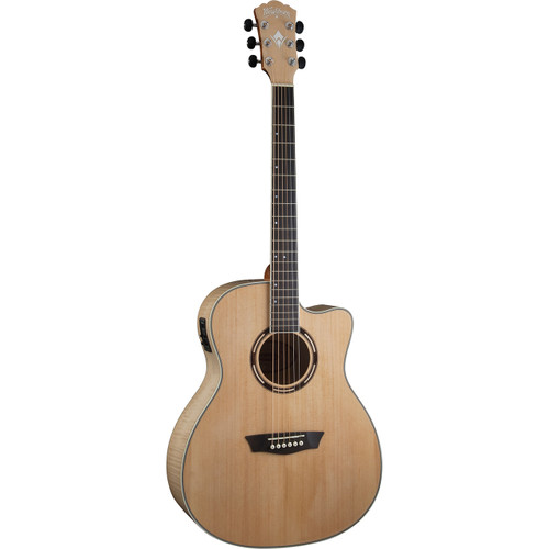 Washburn AG40CEK Grand Auditorium Spruce Top Acoustic Electric Guitar w/ Case