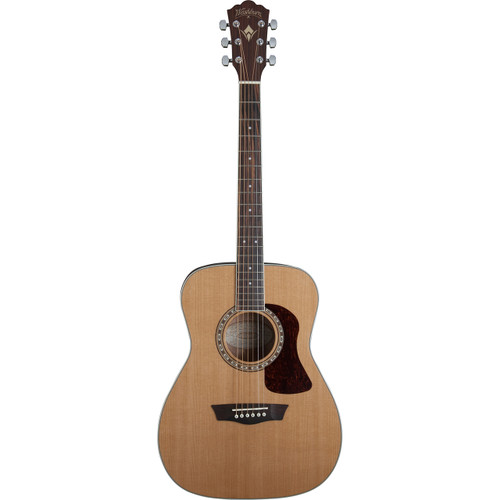 Washburn HF11S Solid Cedar Top Folk Style Acoustic Guitar, Natural (HF11S)