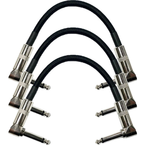 """Strukture S6P48 Dual Right Angle 6"""" Woven Patch Cable, 3 PACK"""
