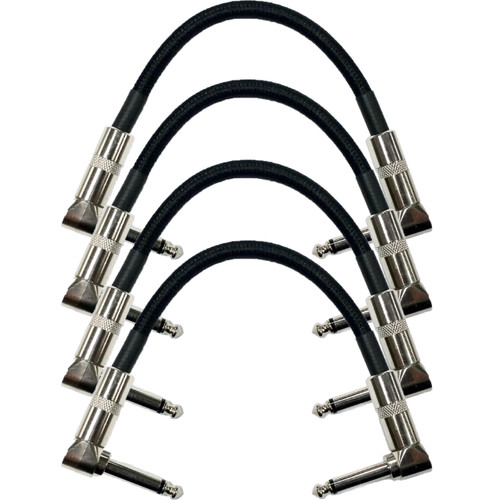 """Strukture S6P48 Dual Right Angle 6"""" Woven Patch Cable, 4 PACK"""
