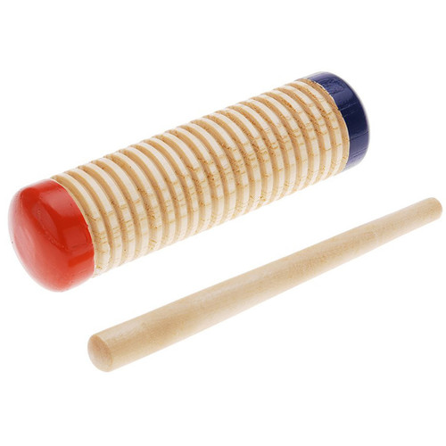 "GP Percussion GPG55 Percussion Combo 5.5"" Wood Guiro and Shaker w/ Scraper"