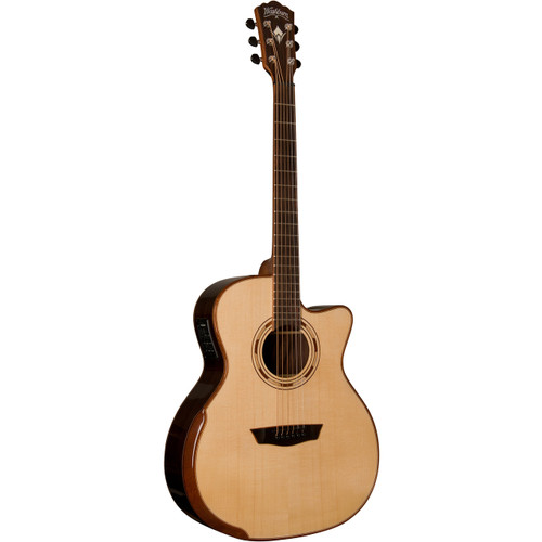 Washburn WCG25SCE Comfort Series Acoustic Electric Guitar, Solid Spruce Top w/ Rosewood
