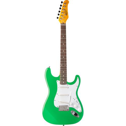 Oscar Schmidt OS-300-SFG Double Cutaway Solid-Body Electric Guitar, Surf Green
