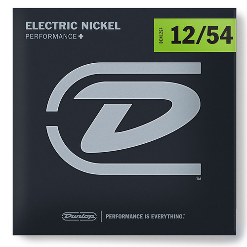 Dunlop DEN1254 Performance+ Electric Guitar Strings, Heavy Gauge 12-54