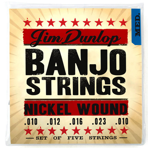 Dunlop DJN1023 Americana Series Banjo Strings - Medium Gauge, Loop End, 5-String Set