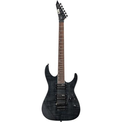 ESP LTD M-200FM Flamed Maple Solid Body Electric Guitar, See Thru Black