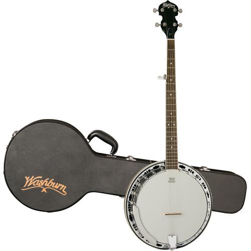 Washburn B11K Americana Series 5-String Resonator Banjo w/ Hard Case