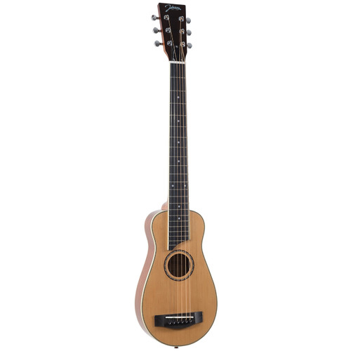 Johnson JG-TR3-L Trailblazer Left-Handed Acoustic Travel Guitar w/ Gig Bag, Natural