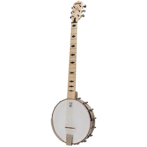 Deering Goodtime Six 6-String Open Back Banjo, Steel String