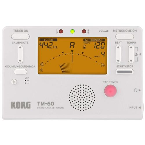 Korg TM60WH Multi-Instrument Combo Tuner & Metronome, White